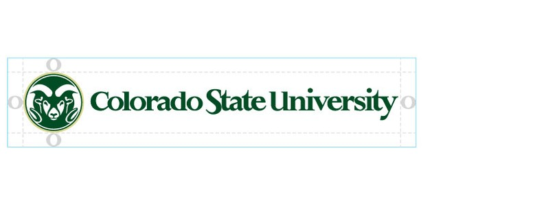 Size and clear space around the CSU logo